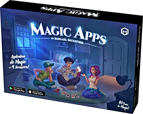 Mikael Montier - Set di Magia Digitale (80 Trucchi di Magia) - Magic Apps - Kit di Magia con Applicazione Mobile (iOS e Android) per Bambini, Adolescenti e Adulti - Magia Professionale Semplice