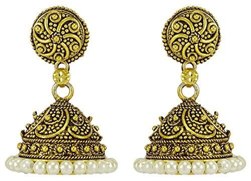 Banithani, set di orecchini tradizionali indiani da sposa, da donna, design Jhumka
