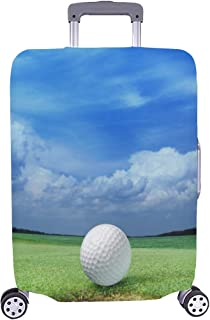 Funny Sport Outdoors Golf Course Tee Club Game Pattern Spandex Trolley Case Travel Luggage Protector Suitcase Cover 28.5 X 20.5 Inch