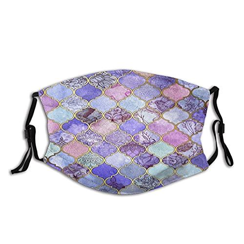 Bufandas marroquíes de la moda del azulejo de la malva púrpura real impermeable con 2 filtros para el adulto