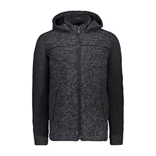 CMP, heren MID Jacket FIX, capuchon, grijs, ademend, warm gemêleerd