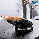 Car Heater,CHELIYA Portable 12V 150W 2 in 1 Auto Car Heater Cooling Fan Defroster Defrost Windscreen Window Demister,Black