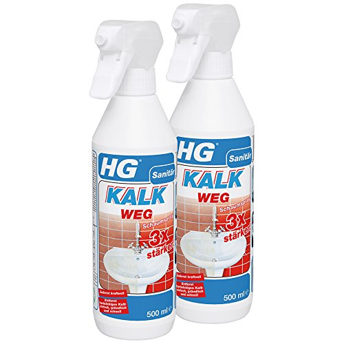 HG Kalkweg Schaumspray 3x stärker, 2er pack (2x 500 ml)
