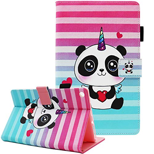Amazon Fire HD 10 Case, Case for Fire HD 10 (9th/7th/5th Generation,2019/2017/2015 Release), Fvimi Leather Folio Smart Stand Cover with Auto Wake/Sleep for Fire HD 10.1 Inch Tablet, Cute Panda