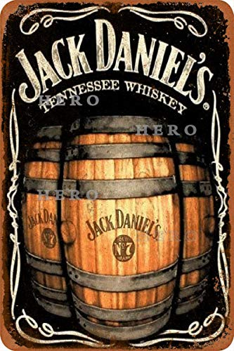 Generic Brands Jack Daniel's Vodka Whisky Rum Vintage Blechschild Kunst Eisenmalerei Rostiges Poster Dekoration Aluminiumschild für Hotel Cafe Schule Büro Garage