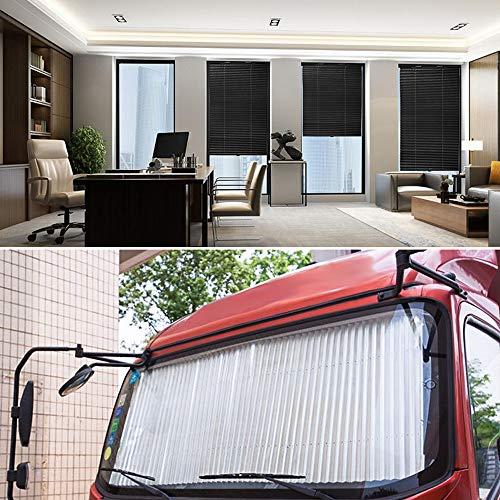 YOUXIU Akkordeon Sonnenschutz für Auto Windschutzscheibe, Aluminiumfolie Autosonnenschutz Frontscheibe für SUV, Innen Sonnenblende mit UV Schutz für Heckscheibe - Shutter Typ Sonnenschutz Rollos