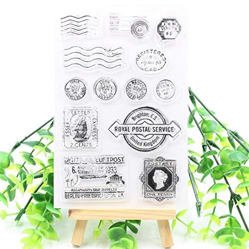 Verzendkosten transparant duidelijk decoratieve kaart maken siliconen stempel voor diy scrapbooking/fotoalbum