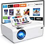 WiFi Projector, Uyole Outdoor Movie Projector with 100'' Projector Screen, 1080P Full HD Supported & 200'' Video Projector for Outdoor Movies, Wireless Mirroring via WiFi/USB for iPhone/Android/PC/TV