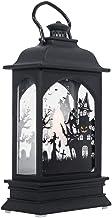 Amosfun Halloween Hanging Lamp Transparent Vintage Light Lantern for Party Home Decoration