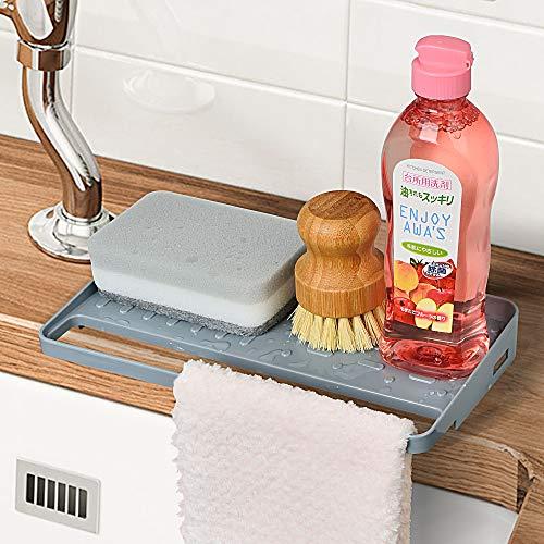 YOHOM Kitchen Sink Sponge Holder Organizer for...