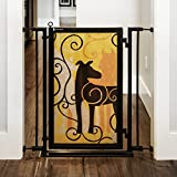 "Fusion Gate for Baby & Dogs with Limited Edition Dream Dog Art Screen Design (Satin Nickel, 32"" - 36"")"