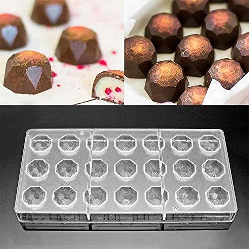 Molde de Chocolate, Molde Transparente de Diamante de 21 Agu