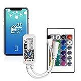 WIFI RGBW Led Strip Controlador de 5 pines, Wifi / controlado por aplicación Trabajando con Android / IOS 5V-28V 16 millones de colores, control remoto de 24 botones