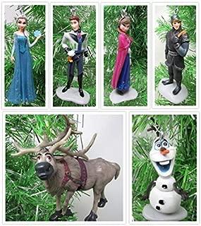 Disney Frozen Christmas Tree Ornament Set Featuring Anna, Elsa, Kristoff, Olaf the Snowman and Winter Ornament, Ornaments Average 2