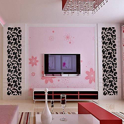 FOMBV Muursticker spiegel acryl muur stickers spiegel effect sticker voor thuis decoratie lijm vinyl muursticker slaapkamer decoraties