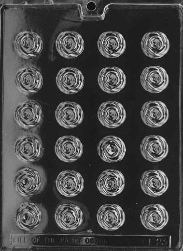 Cybrtrayd Life of the Party F023 Bite Size Roses Flower Chocolate Candy Mold in Sealed Protective Poly Bag Imprinted with Copyrighted Cybrtrayd Molding Instructions