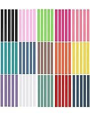 Ewpartsde Gekleurde mini-lijmpennen 75 stuks 7 mm 100 mm 15 kleuren hete lijmstiften gekleurd