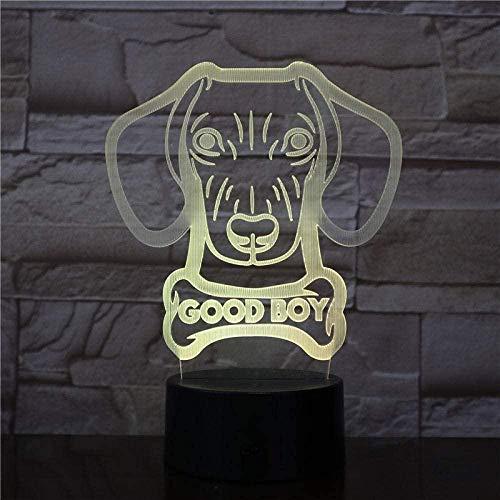 Luz de Noche Led 3D Ilusión Óptica 7 Colores Cambio de los Niños Regalo de Navidad Alimentado por USB Interruptor Táctil Decoración de Dormitorio Iluminación (con Control Remoto)