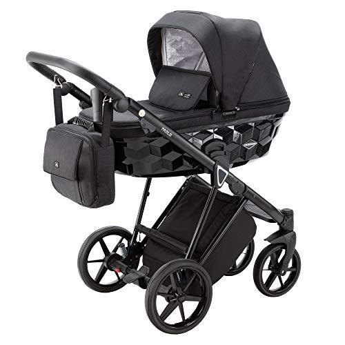 Adamex Paolo Standard- Cochecito de bebé combinado con bolso cambiador + pantalla + mosquitera + soporte para bebidas y manguitos de invierno (TK-572, 3in1) (TK-13, 3in1)