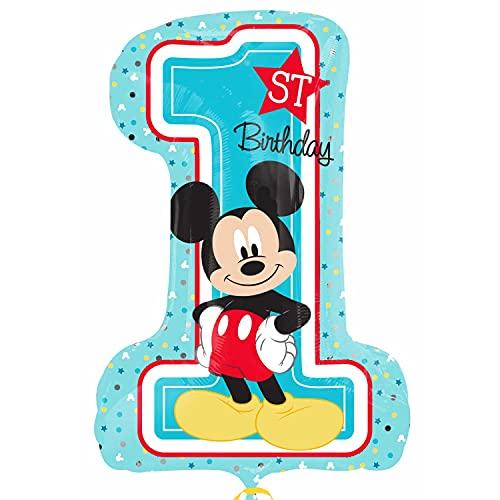 Anagram- Pallone Foil Supershape 48 X 71 Cm Mickey 1 Birthday,...