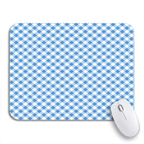 Gaming mouse pad gingham blue tischleuchte muster karierter plaid-effekt diagonale rutschfeste gummiunterlage mousepad für notebooks computer mausmatten