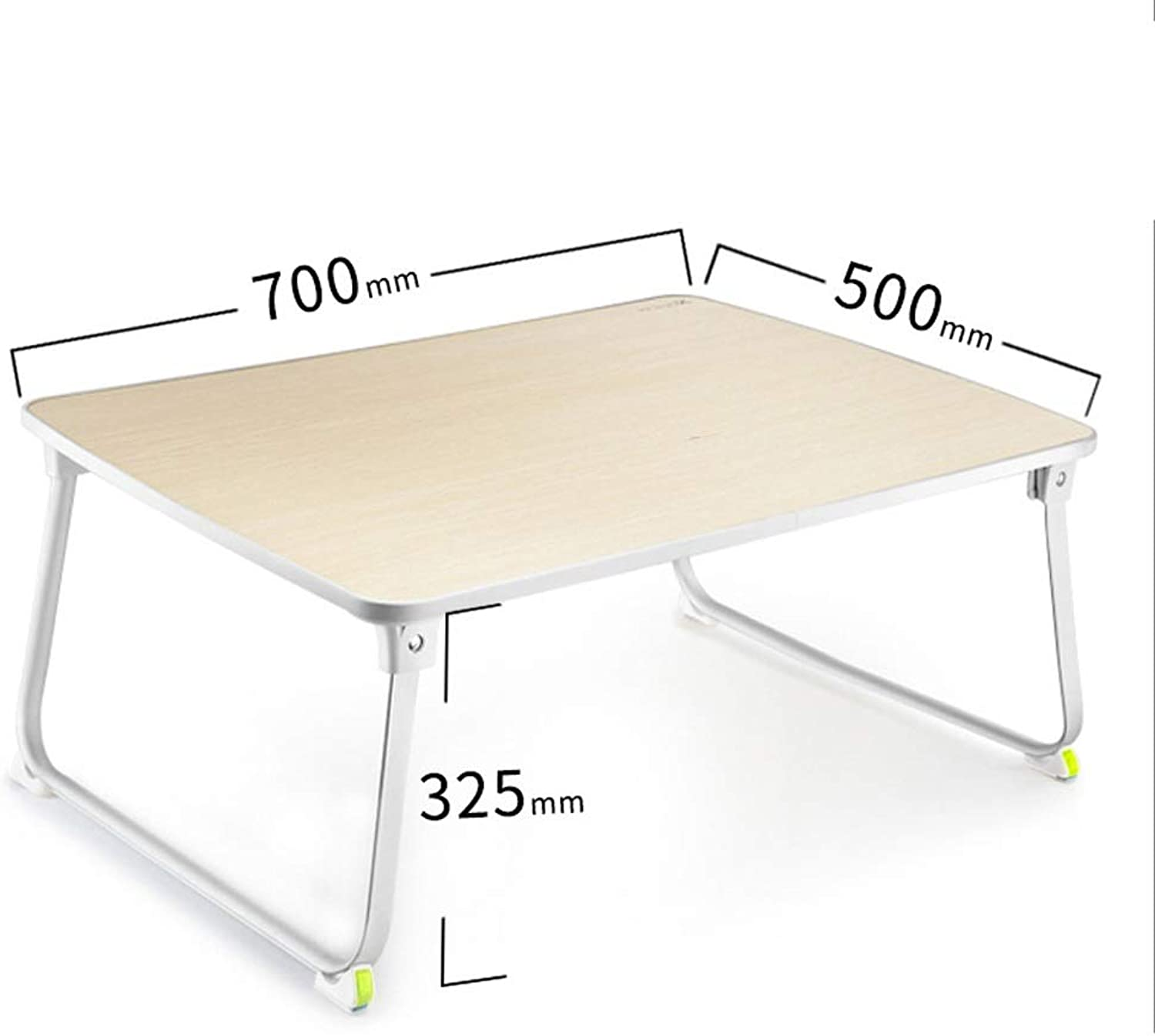 Laptop Table Aluminum Brackets Folding Bed Small Desks Student Dormitory Study Desks Multifunctional Sofas, Beds, Terraces, Balconies, Gardens are Available (color   Natural)