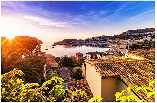 Unbekannt Conradsha - 1000 Teile Spiele Puzzle - Sonnenuntergang in Puerto de Soller Mallorca - Erwachsene Kinder Lernspielzeug Puzzle Weihnachtsdekoration Geschenk Classic Puzzle