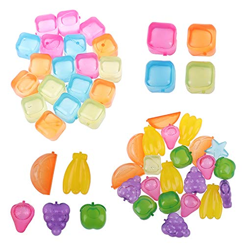 Cubetto di Ghiaccio Quadrato Commestibile Plastica Cubetto Ghiaccio Creatività Design Cubetto di Ghiaccio Cubetti di Ghiaccio Alla Frutta per Congelato Cocktail, Cola, Succo D'arancia—Colori Casuali