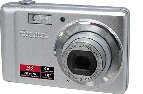 Rollei Compactline 370 TS Digitalkamera (14 Megapixel, 4-Fach optischer Zoom, 28 mm Weitwinkelobjektiv, 7,62 cm (3,0 Zoll) Touchscreen Display) Silver