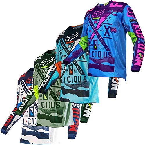 Men Motocross Jersey Long Sleeves Motorcycle Shirt Riding Top Bicycle Bike Racewear Off Road Enduro Casual Riding Apparel 9 (Jersey 3, Large, l)