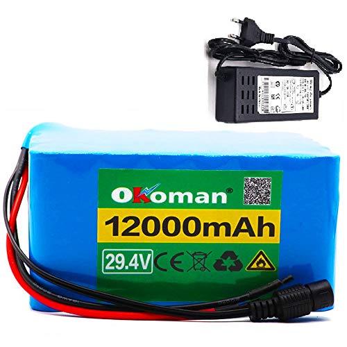 Paquete de batería de iones de litio de 29,4 V 12Ah 7S5P bicicleta eléctrica scooter batería ligera para silla de ruedas + cargador