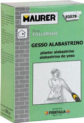 Gesso Alabastrino Maurer 5Kg per la produzione di manufatti in gessi, cornici