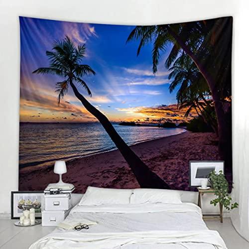 GermYan Patrón del Tapiz de los árboles de Coco o Tela de Fondo o Tela Decorativa, Material de Fibra de poliéster 150 * 200 cm
