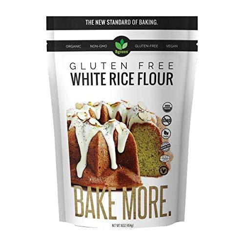 Big Green Organic Food- Organic White Rice Flour, Gluten-Free, Kosher, Artisan Baking (1)