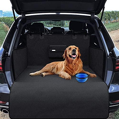 Veshow Protector para Maletero de Coche Perros Cubierta de Maletero Mascotas Impermeable Antideslizante Funda Asiento Coche Perro Universal para SUV