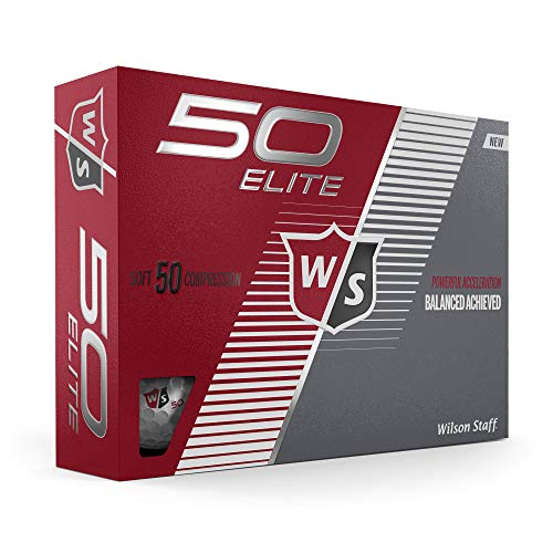 Wilson Staff Fifty Elite Golf Ball, White