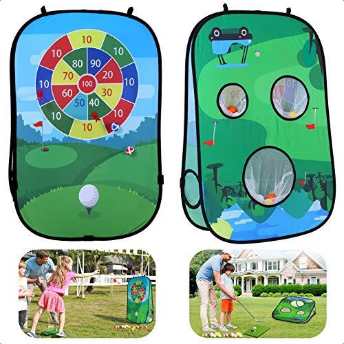 Golf Giocattoli per Bambini,con 16 Pezzi di Palline da in Schium(Senza asta)Double Sided Hanging Foldable Jumbo with Hook Safe Dart Board Game Gioco per Interni Ed Esterni per Bambini e Adulti