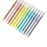 Brave Tour 12本 ジェルペン 0.35mm カラーダイヤモンドペン 12色 学校 オフィス 学生に最適