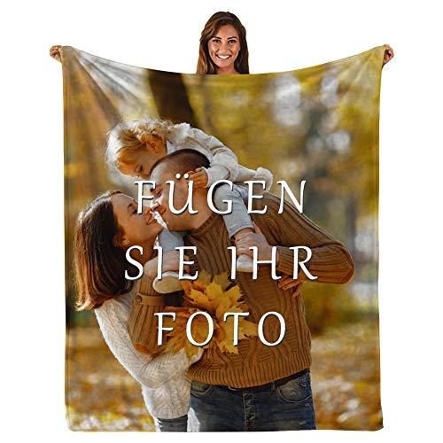 Personalisierte Kuscheldecke Fotodecke - Super Weich Bedruckte Flanell Kuscheldecke Personalisierte Decke Fotogeschenk für Jahrestag Geburtstag Weihnachten Valentinstag (59