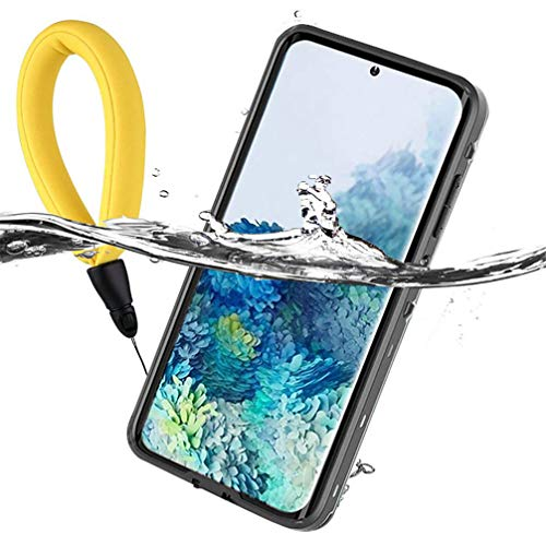 Anyos Samsung Galaxy S20+Plus Waterproof Case, Galaxy S20+ Underwater Case Built in Screen Protector 360° Full Body Protective Shockproof Dustproof Snowproof Cover with Fingerprint ID, Clear/Black