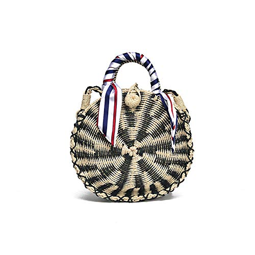 Size:8.2''x 9.4''; Color: Black, Gold, Silver 100% Real and Natural Handmade Rattan Bags. Every midsummer, cool and leisure handbags are popular with girls. Bohemian style straw bags are not only the best choice for seaside holidays, but also a novel...