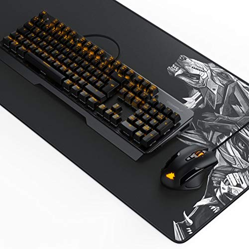 Titanwolf Gaming Set - mechanische Tastatur ALUMAR MMO 10800dpi Gaming Maus Specialist XXL Mauspad - Mechanical Keyboard - Anti-Ghosting - LED Backlight - 19 Lichtmodi - Makro-Modus