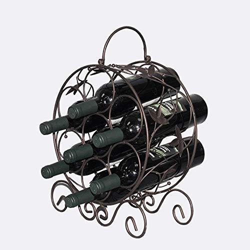HJXSXHZ366 Estantería de Vino De Estilo Europeo, dragón de Hierro Forjado, Estante del Vino, Estante del Vino Estante de Vino pequeño