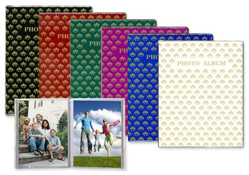 6-Pack Pioneer FC-157 1-UP 5 x 7 Photo Album - Assorted Colors
