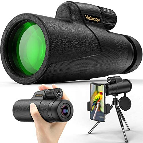 Monocular Telescope Compatible with iPhone Android 12x50 High Power Monocular for Bird Watching product image