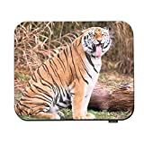 Swono Tiger Mouse Pads Funny Tiger Yawning Wild Animal Pattern Mouse Pad for Laptop Funny Non-Slip Gaming Mouse Pad for Office Home Travel Mouse Mat 7.9'X9.5'