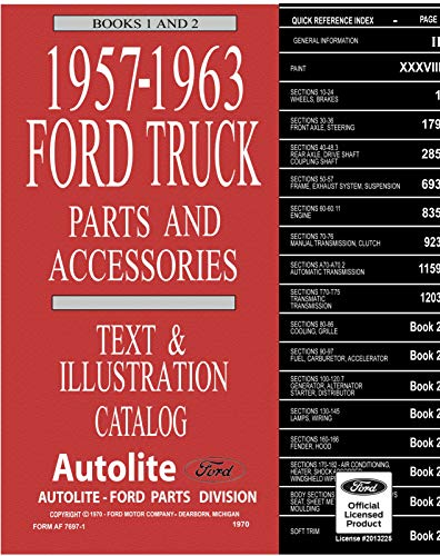 1957-63 Ford Truck Master Parts and Accessory Catalog: Form AF-7697-1/2, AF-7698 dated 1970 (English Edition)