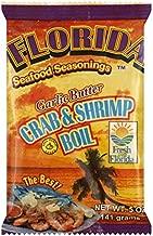 Florida Seafood Seasonings Crab & Shrimp Boil Garlic Butter 5 oz (4 Pack)