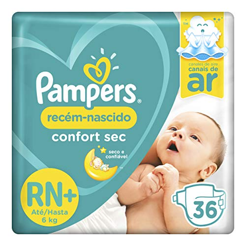 Fralda Pampers Confort Sec Rn+ 36 Unidades, Pampers