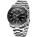 BERSIGAR Reloj cronógrafo para Hombre Movimiento de Cuarzo Fashion Business Sports Watch 30M Impermeable Elegante Regalo de los Hombres
